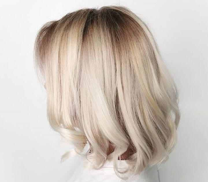 biondo freddo capelli medi autunno 2019