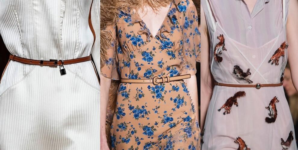 cinture sottili moda inverno 2019 2020