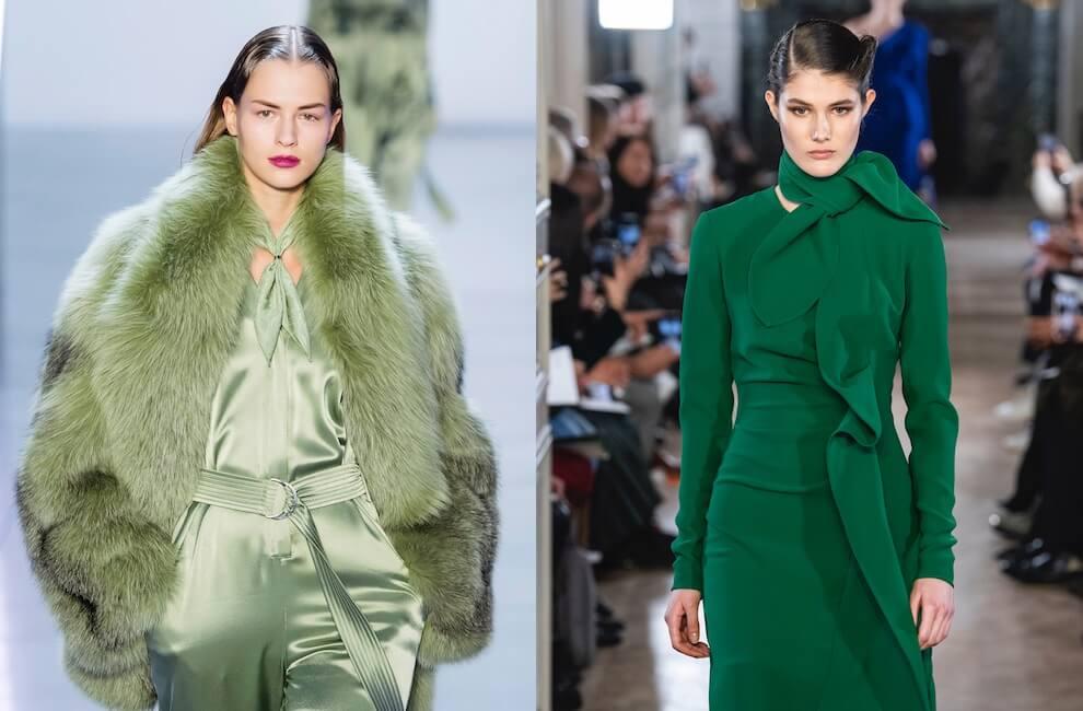 Vestiti Verdi Eleganti.Il Verde Tra Le Tendenze Moda Autunno Inverno 2019 2020 Moda