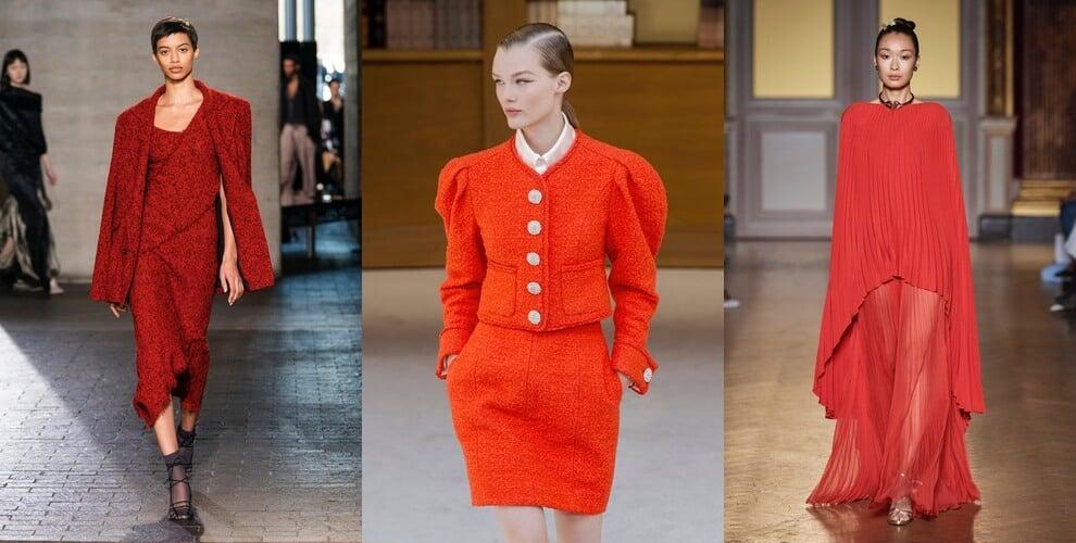colori moda inverno 2020-rosso arancio