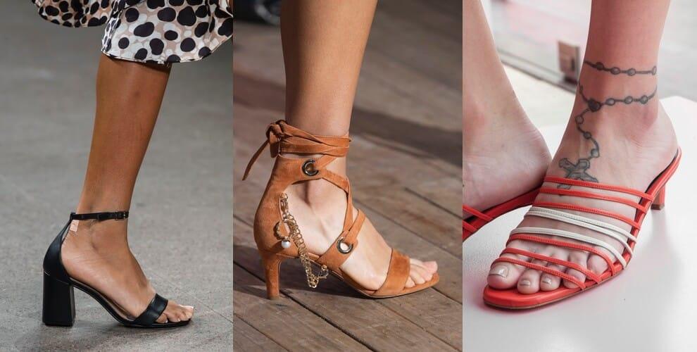 sandali estivi 2020 tacco basso