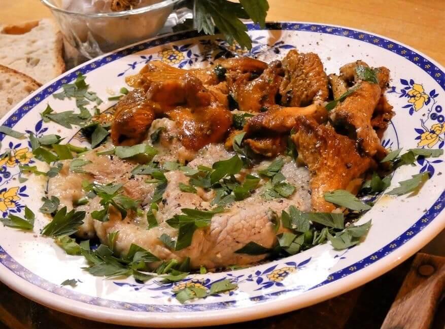 scaloppine ai funghi galletti