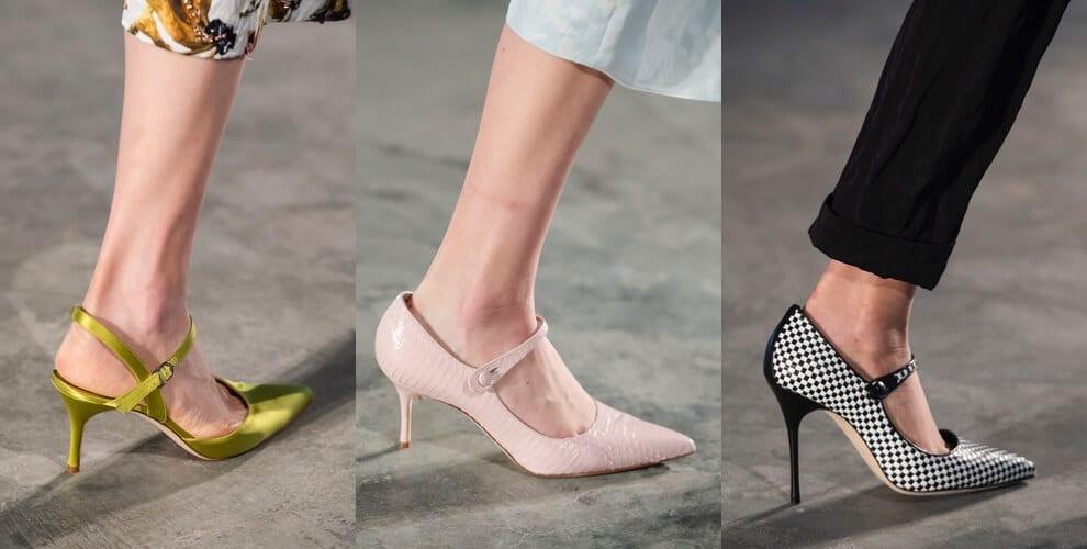 scarpe con tacco a punta primavera 2020