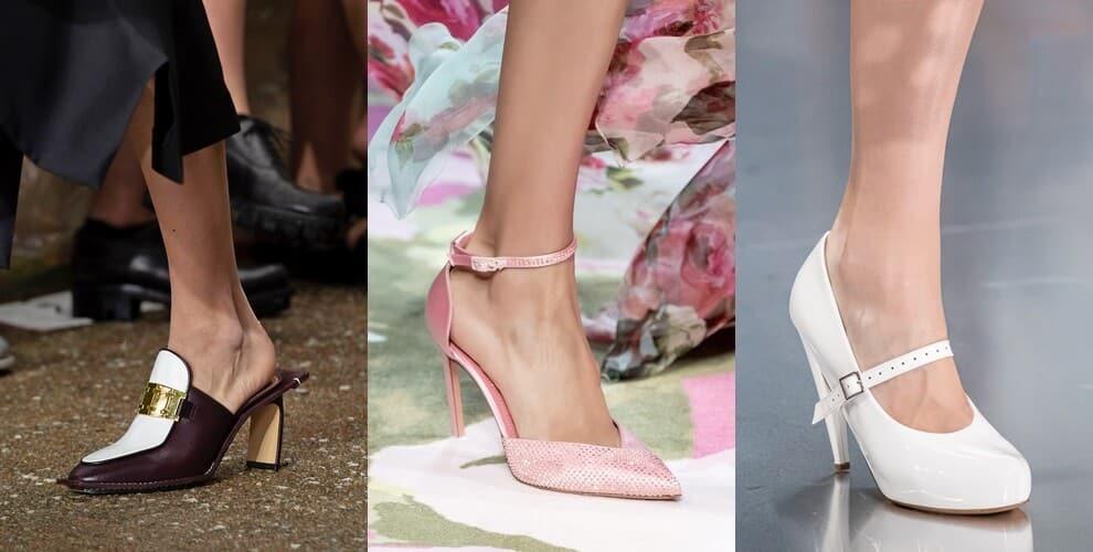 scarpe con tacco primavera 2020