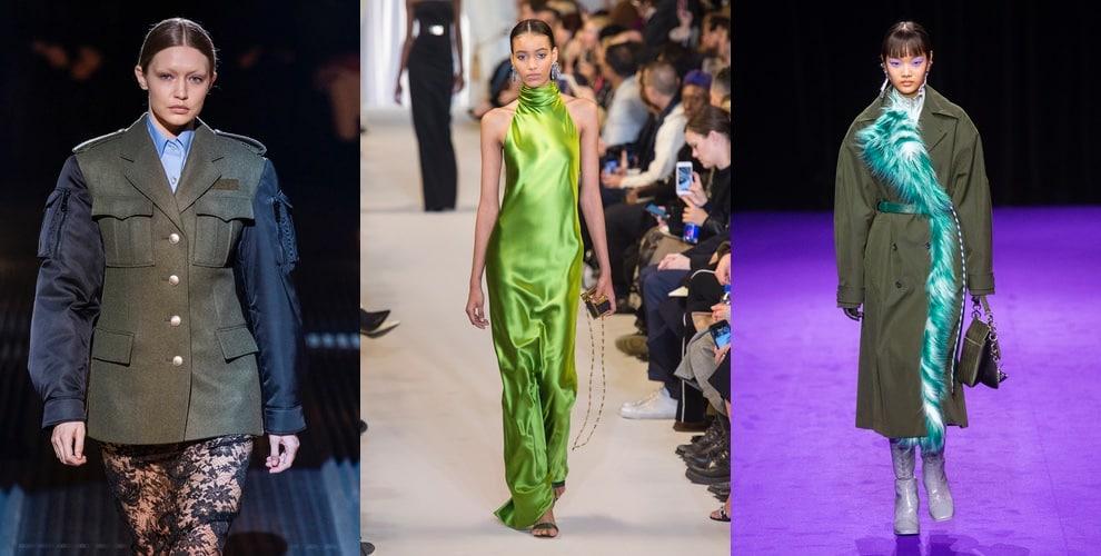 verde militare colore moda inverno 2019-2020