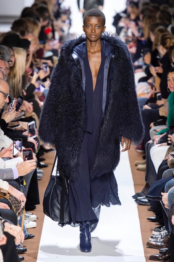 Akris abito cappotto blu inverno 2019 2020