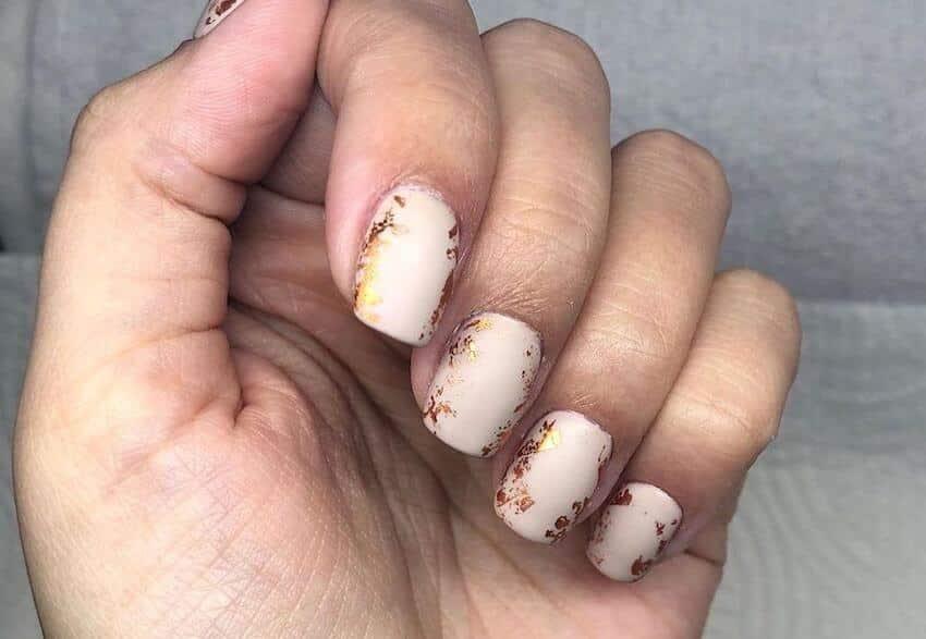 nail art autunno inverno 2019 unghie corte