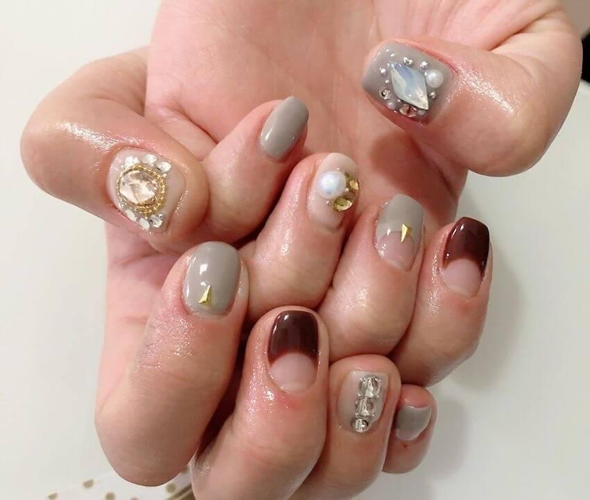nail art unghie corte gioiello inverno 2019 2020