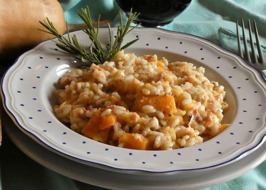 risotto zucca e salsiccia ricetta Donne sul Web