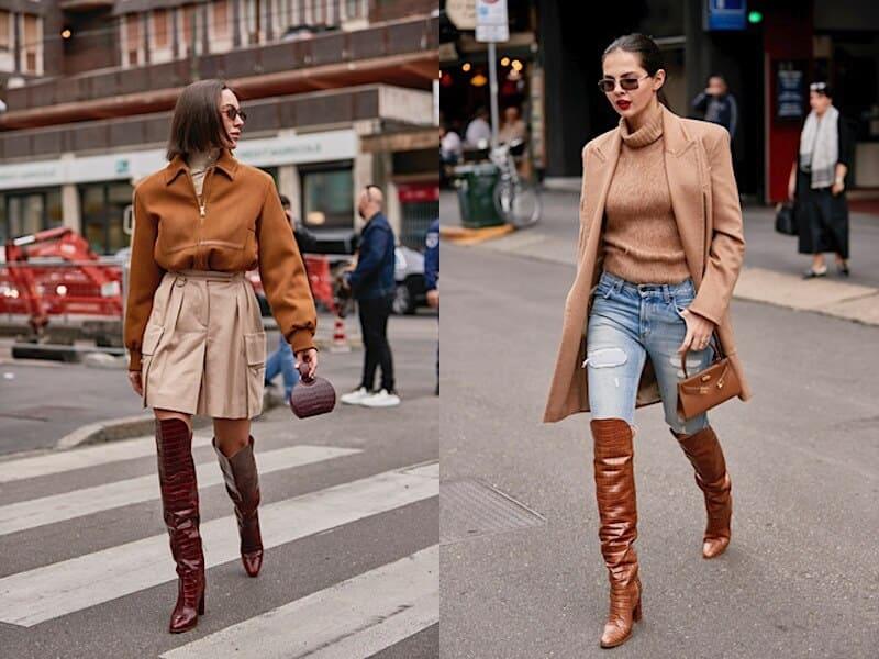 street style milano 2019 abbinamenti stivali pitonati