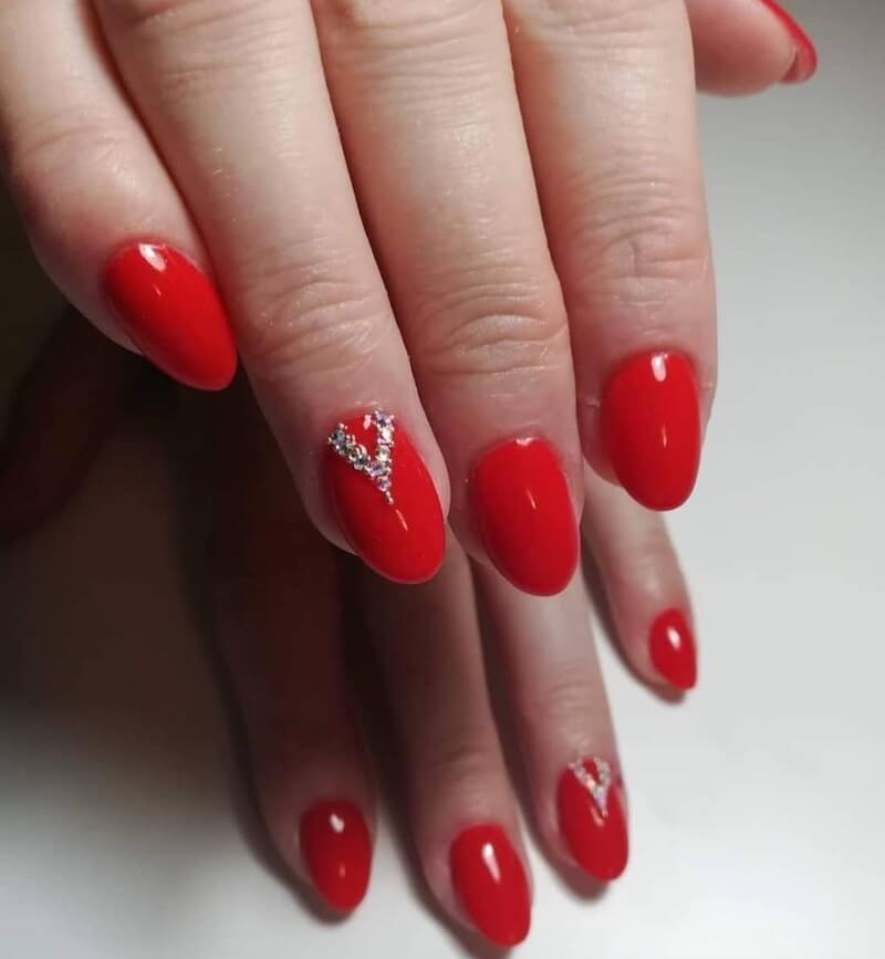 Unghie gel rosse, semplici, eleganti o particolari ...