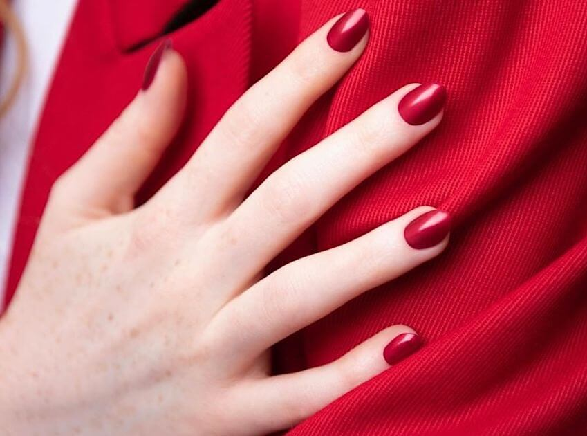 Unghie Gel Rosse Corte - Nail Accessories