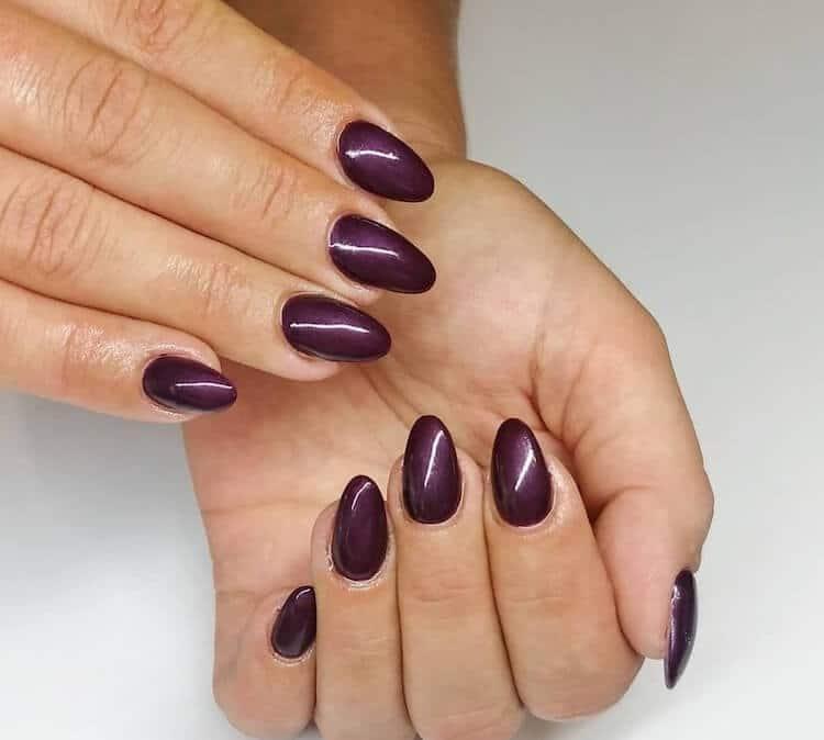unghie gel viola autunno 2019