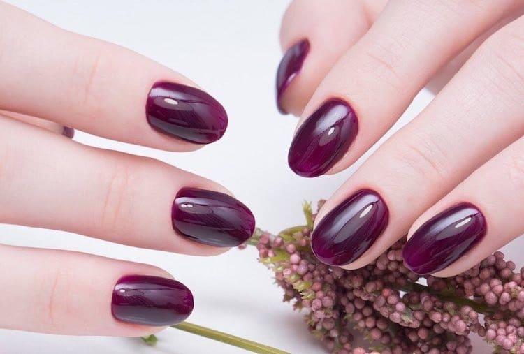 unghie gel viola autunno inverno 2019 2020