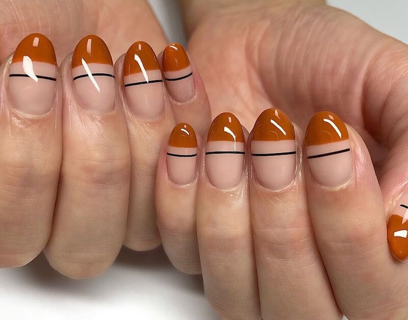 unghie nail art semplici autunno 2019-