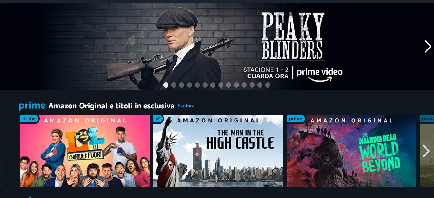 Amazon prime video catalogo 2021 film e serie tv