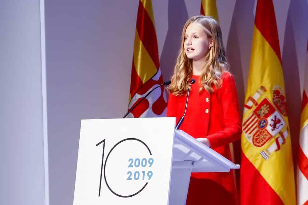 Leonor di Spagna premio girona 2019