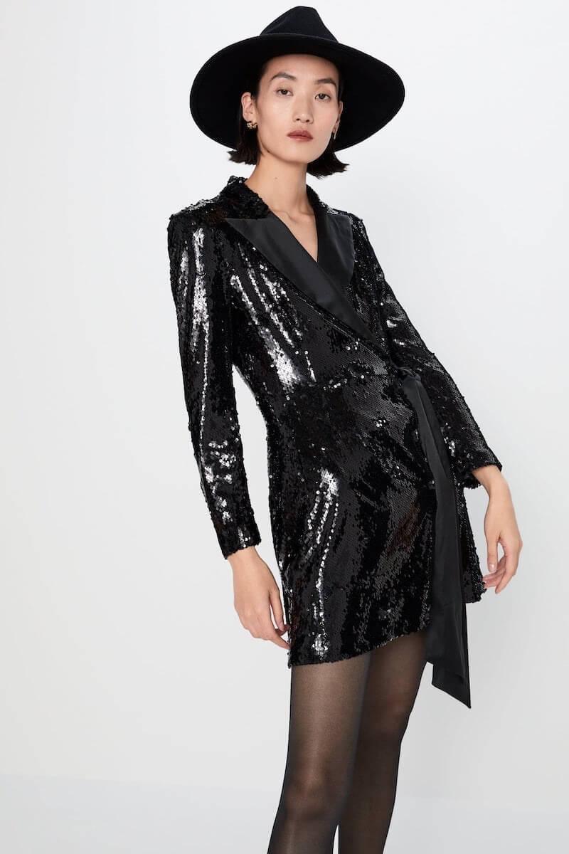 abito elegante corto zara inverno 2019 2020