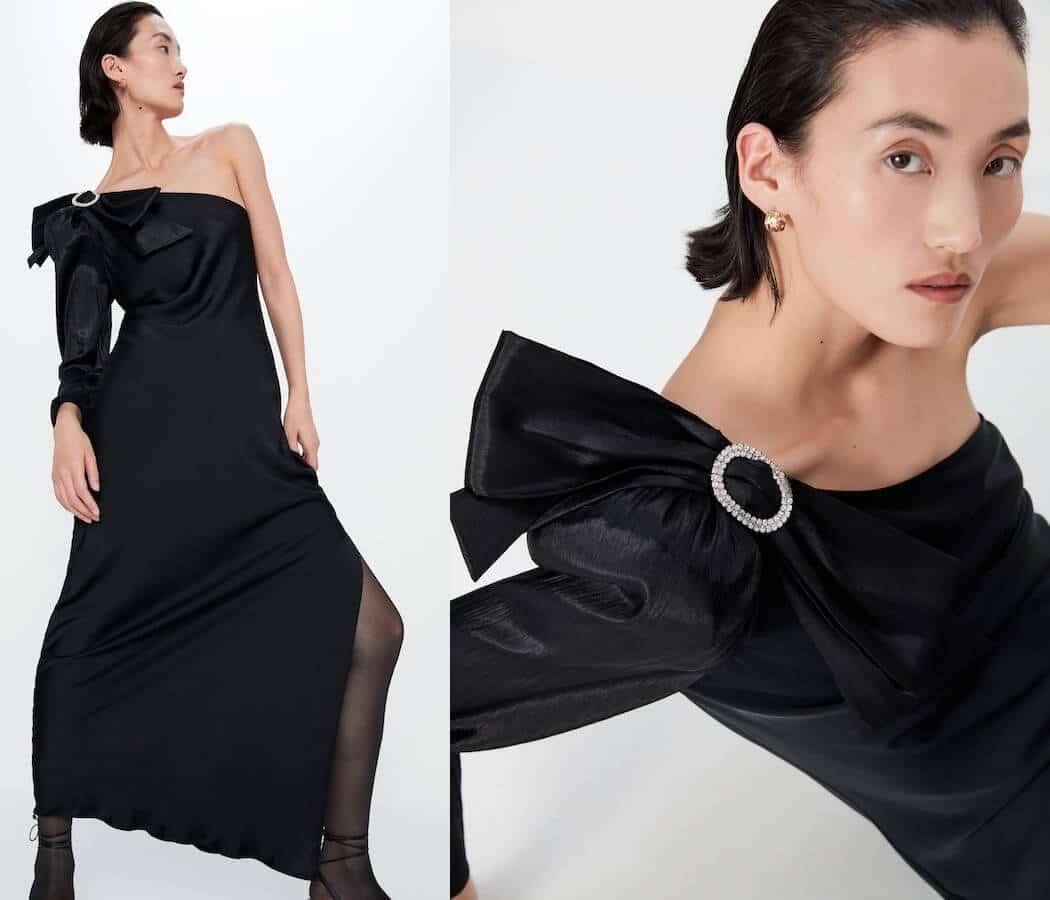 abito elegante lungo zara inverno 2019 2020-