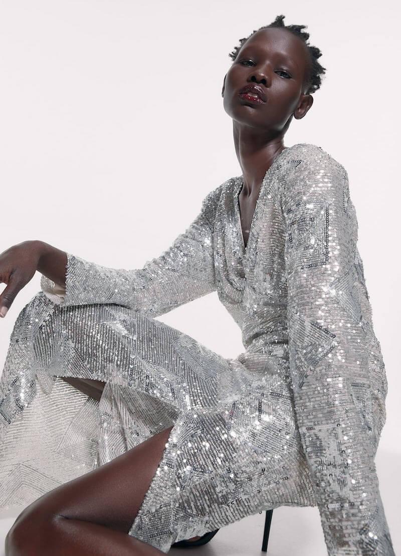 abito lungo elegante zara inverno 2020