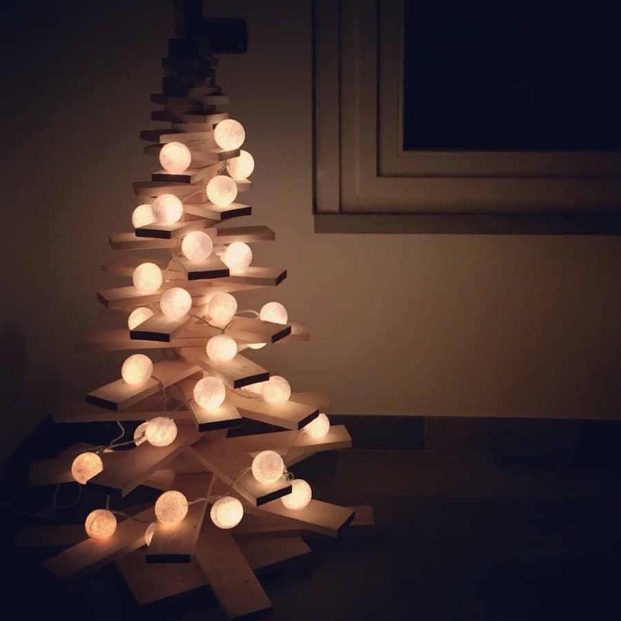albero di natale 2019 in legno