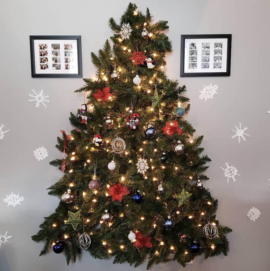 albero natale a muro natale 2019