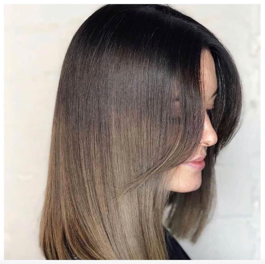 capelli medio lunghi lisci inverno 2020