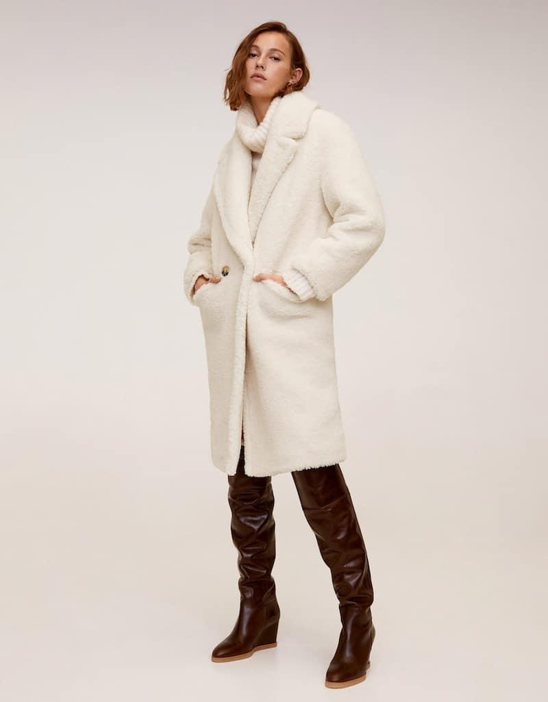 cappotto mango pelliccia pecora inverno 2020