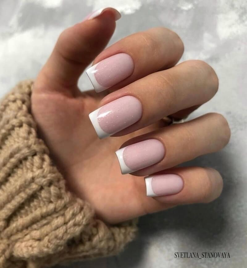 french manicure invernale 2019-unghie gel