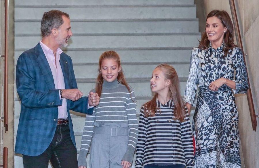 letizia felipe figlie 5 novembre 2019