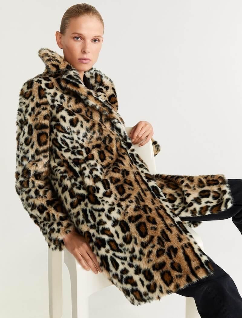 mango pelliccia ecologica animalier 2020