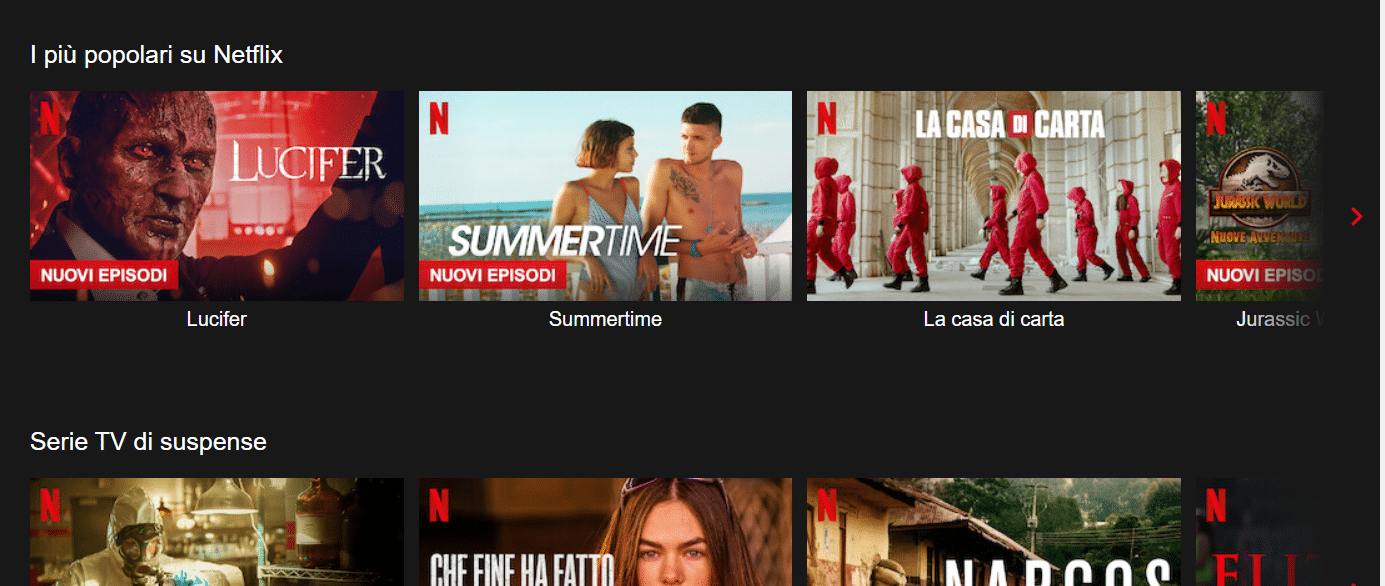 Netflix home catalogo serie tv 2021