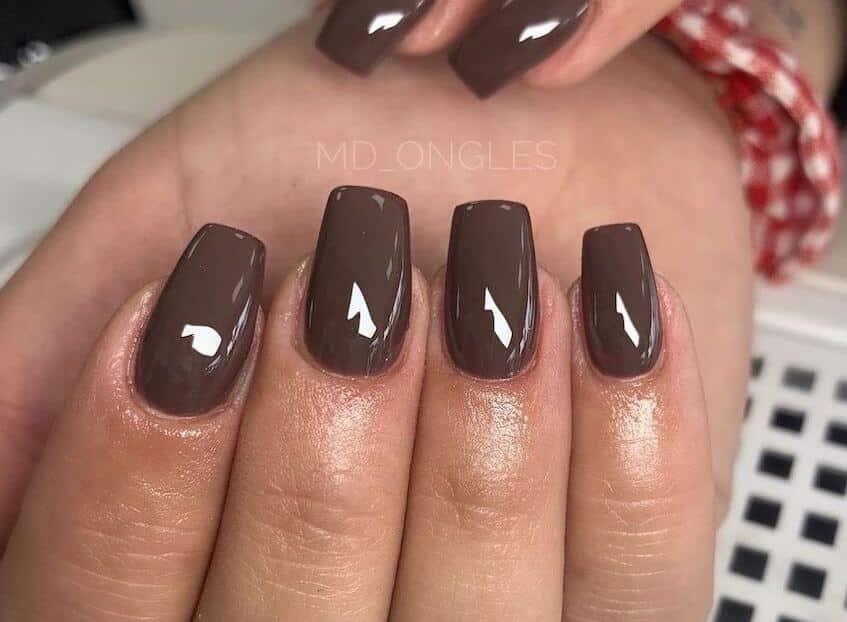 unghie gel color cioccolato novembre 2019