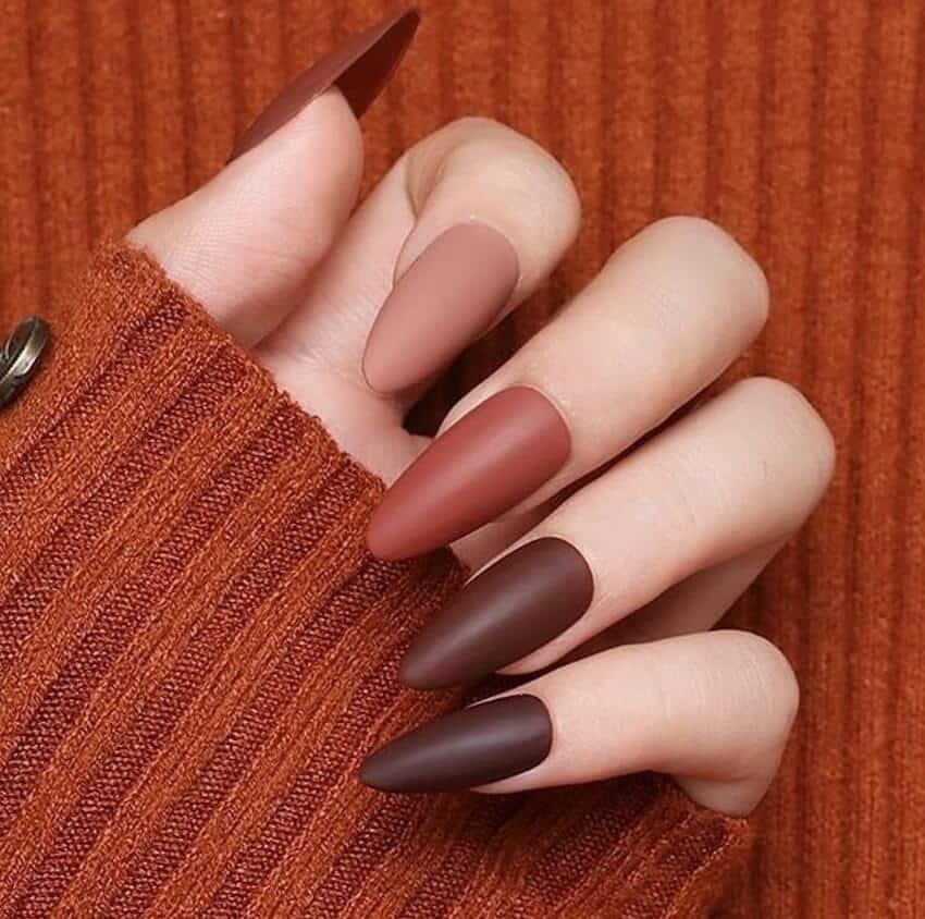 unghie gel matte manicure inverno 2019 2020