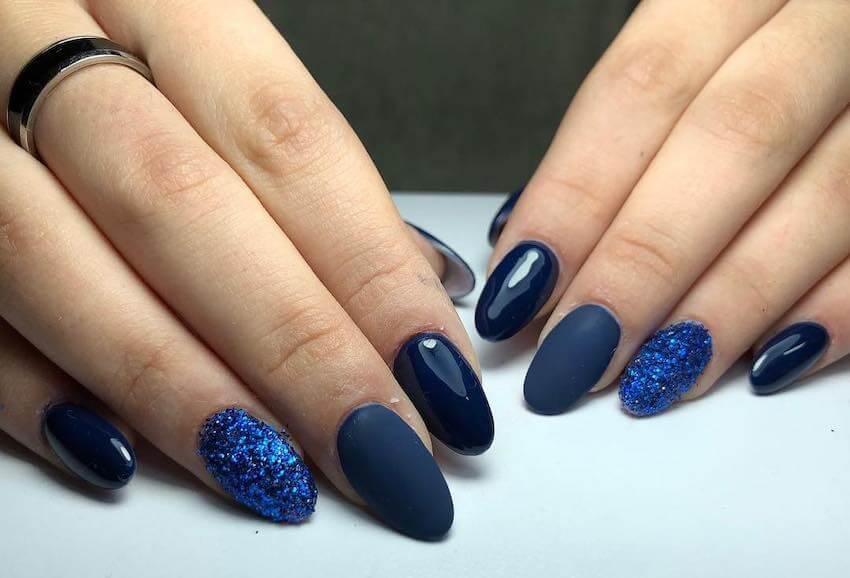 unghie natale 2019 blu