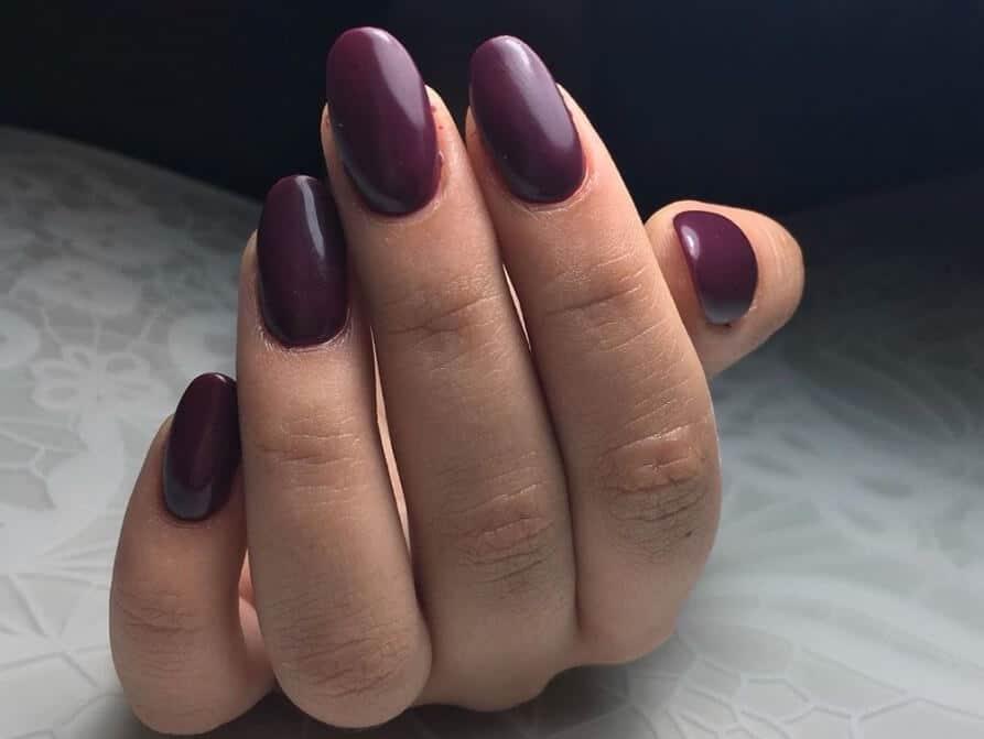 unghie viola scuro inverno 2019-2020