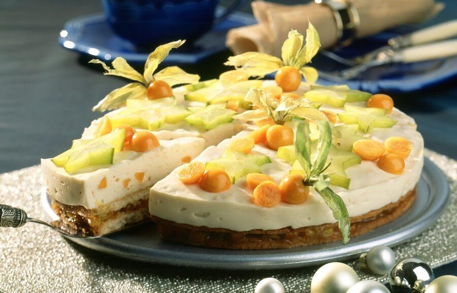 Cheesecake natalizia facile senza cottura