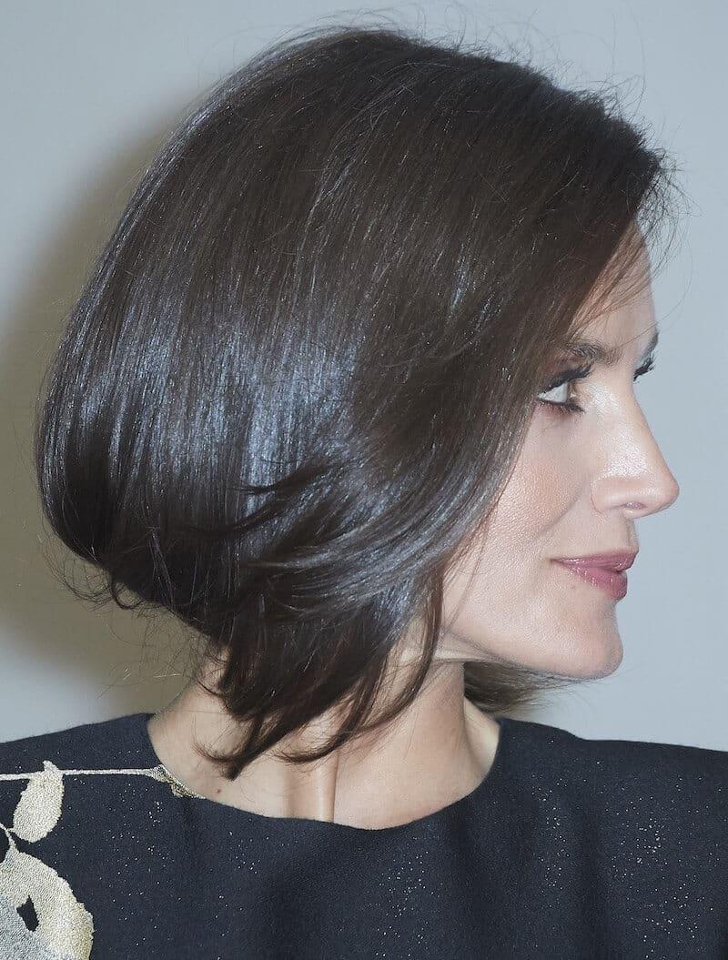 Letizia Ortiz capelli finto bob 2020