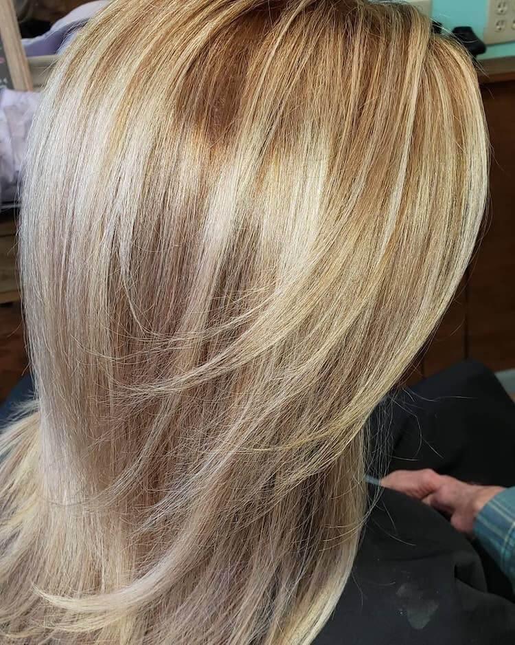 capelli biondi sfumature 2020 balayage