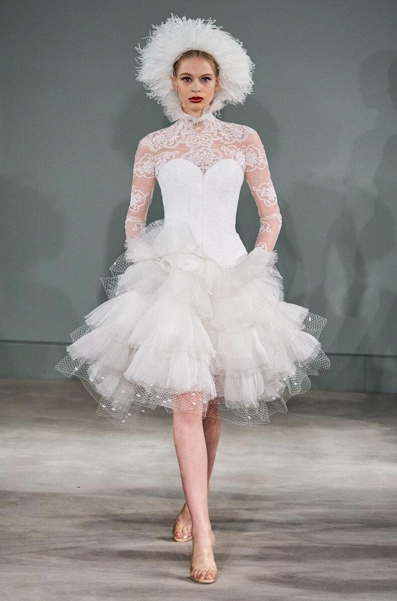 abito da sposa corto mabille pe 2020