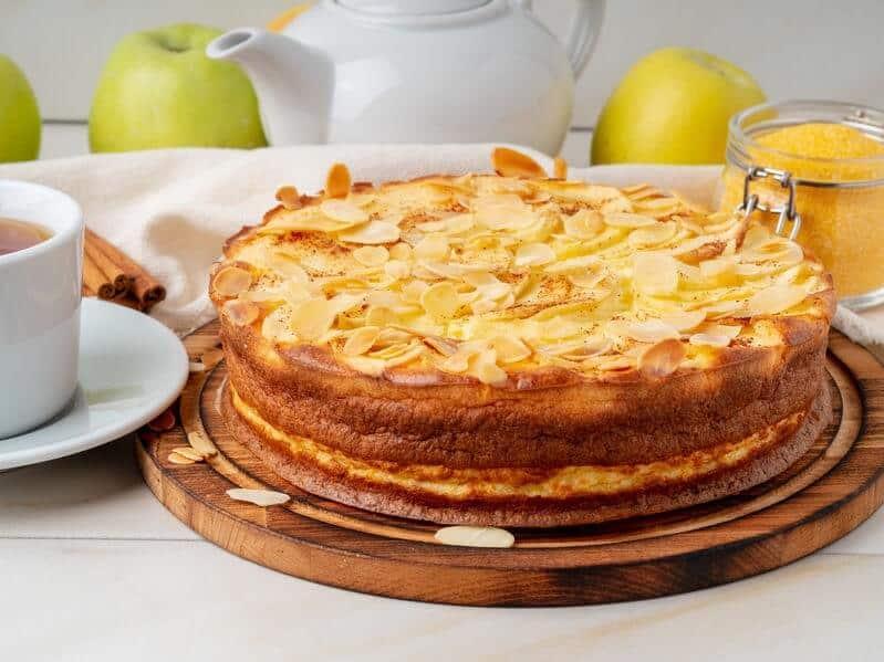 cheesecake cotta polenta mele mandorle