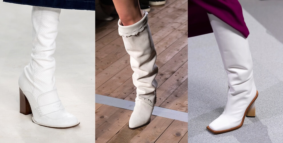 stivali bianchi alti primavera estate 2020