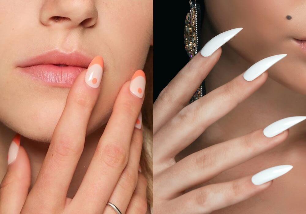 unghie gel 2020 chiare- bianche- rosa