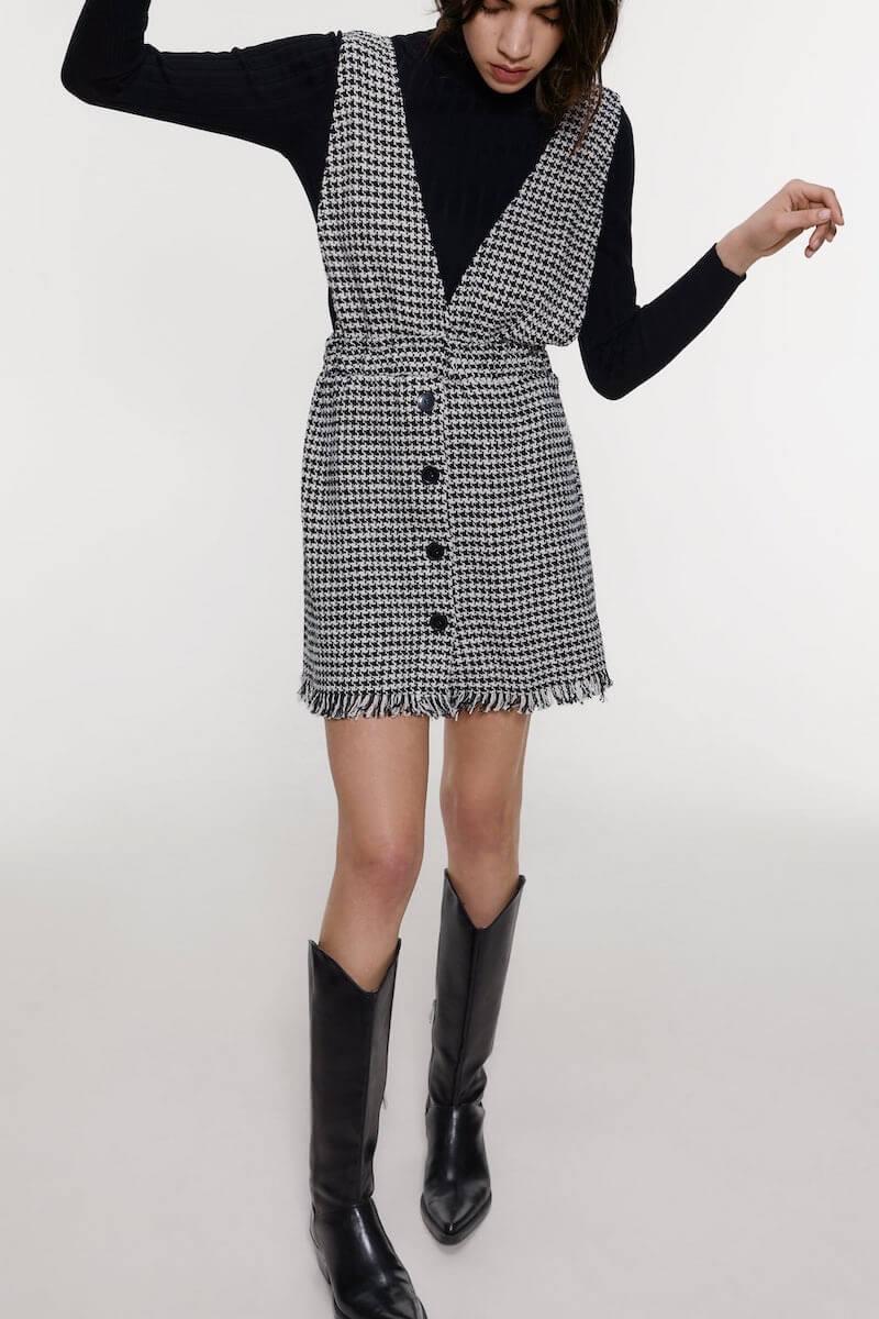 vestito mini salopette zara inverno 2020