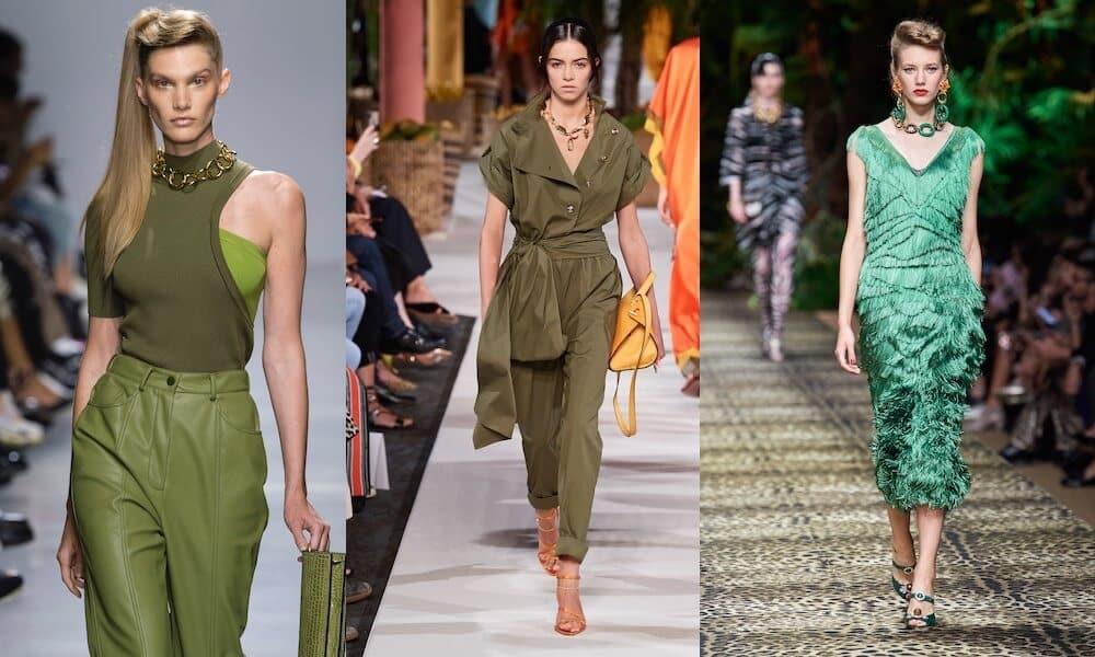 colori moda estate 2020 -verde