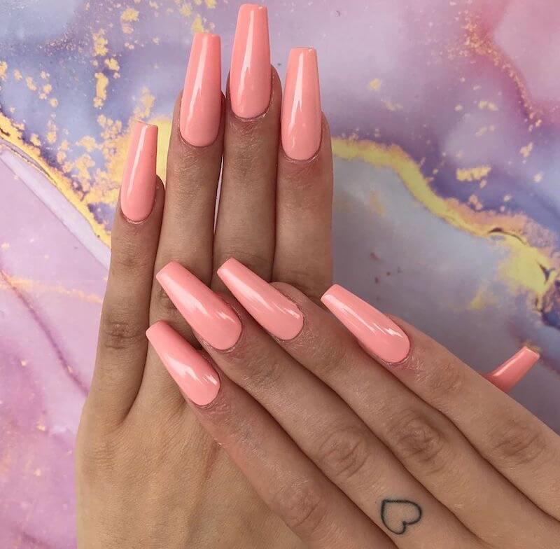 unghie ballerina 2020 rosa pesca