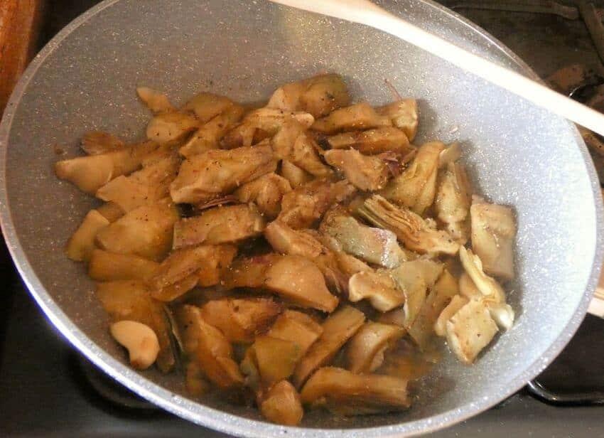 carciofi in padella-