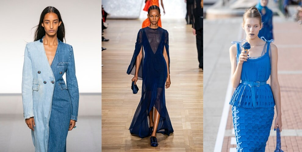 vestirsi di un solo colore blu abbinamenti