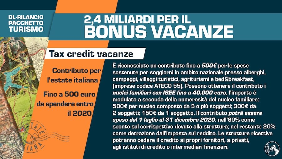 bonus vacanze 2020 ministero
