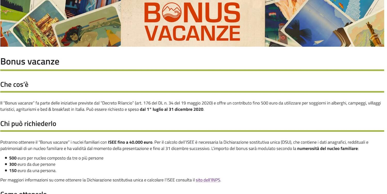 bonus vacanze agenzia entrate